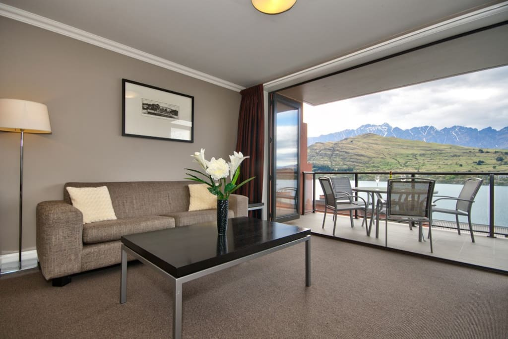 Bifold doors open to balcony with lovely views