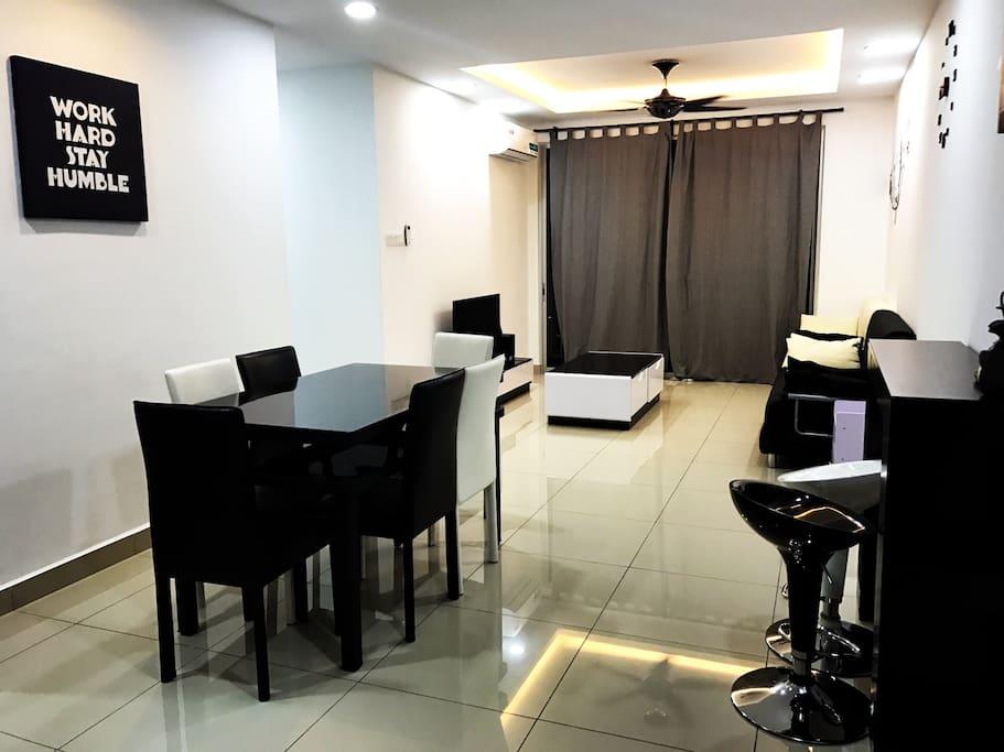 Black white taman tasek apartments for rent in