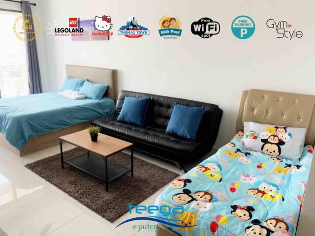 Teega Suites@Puteri Harbour@Kitty&Thomas@Logo@Wifi
