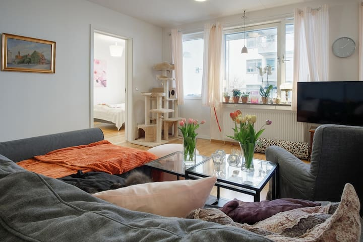 Bedroom for 2 in apartment -Stockholm inner city