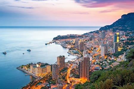 Studio récent & climatisé, Monaco et gare à pied