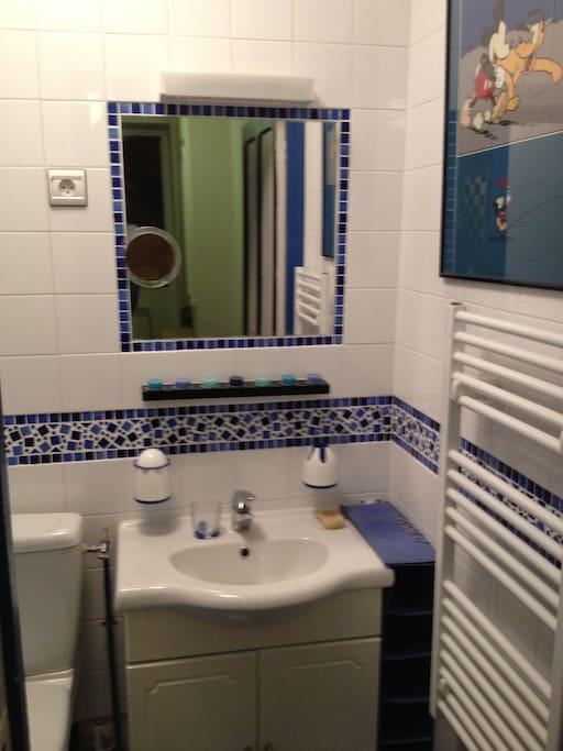 une vraie salle de bains