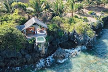 Clifftop pool for sole use of guests of the Honeymoon Tent