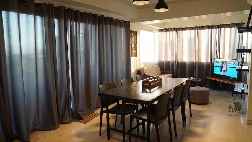 Master BR in spacious Katipunan 3BR penthouse unit