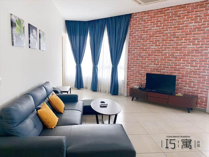 Octagon Ipoh | Cozy 2 Bedrooms 4-6 Person