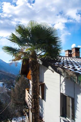 Appartement rez sup. vue sur vallée et lac - Giubiasco - Apartment
