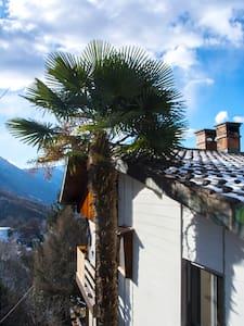 Appartement rez sup. vue sur vallée et lac - Giubiasco