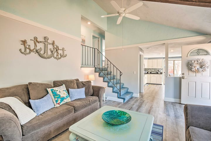 NEW! Charming Home w/ Deck + Grill, Walk to Beach!
