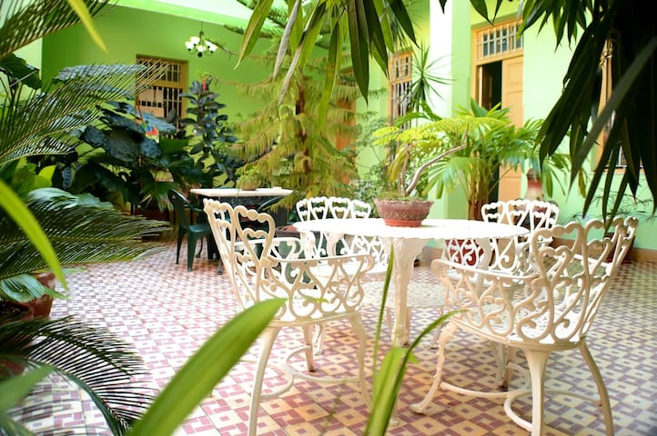 Amazing courtyard for relax in Hostal Francisco