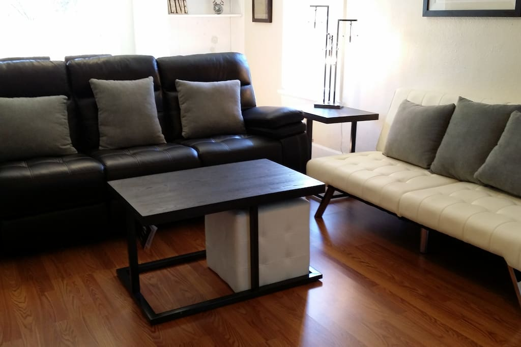 Leather power recliner and futon