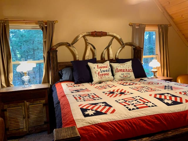 Master suite in loft for privacy and quiet