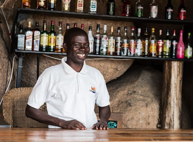 A smile from our barman