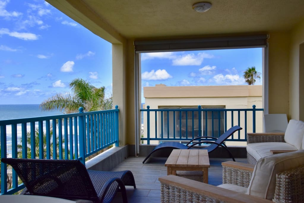 A set of 2 sun loungers can be found on the balcony; great for relaxing with a good book