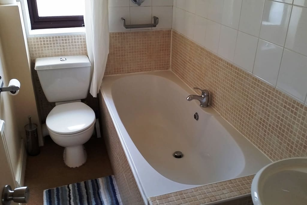 ...with access to a bright and clean bathroom...