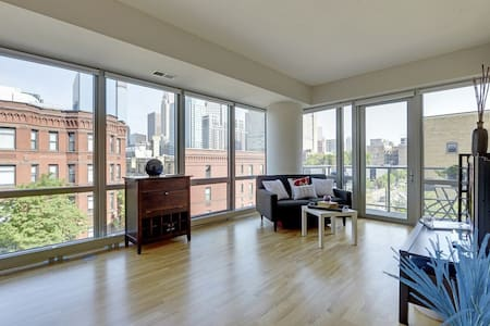Downtown skyline view - corner unit