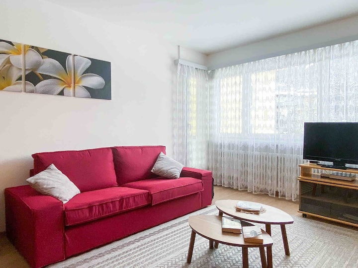 Cozy apartment with balcony near Lake St. Moritz