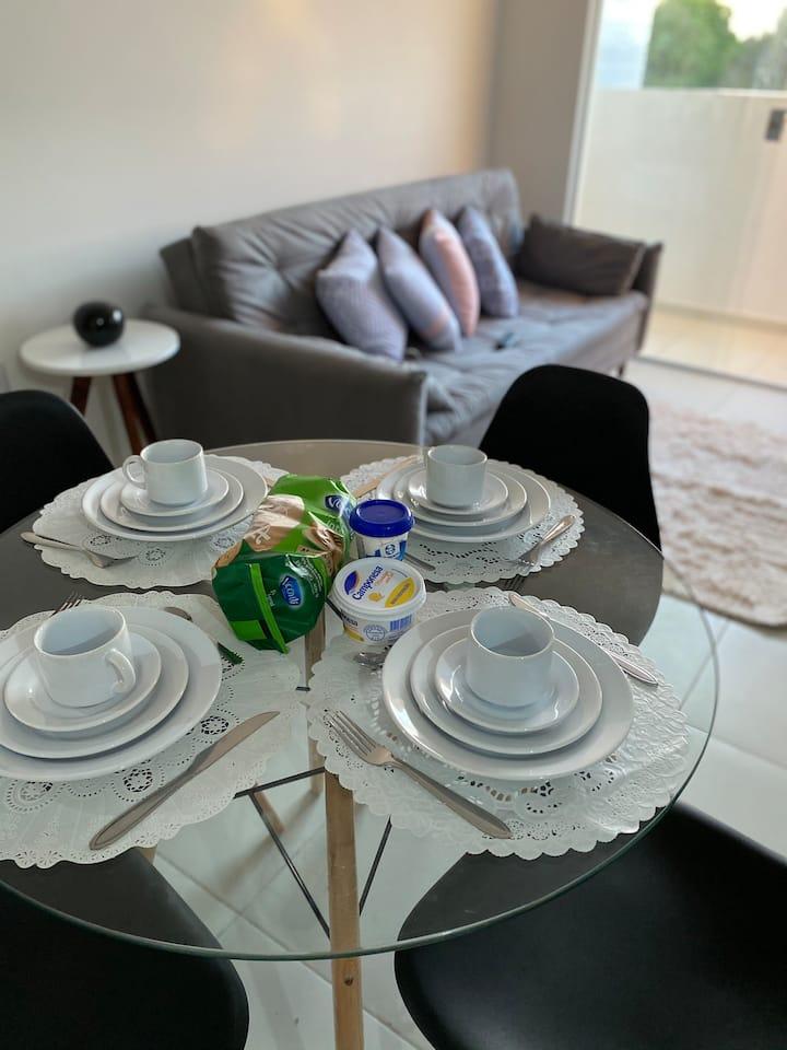 Apartamento inteiro confortável e aconchegante !