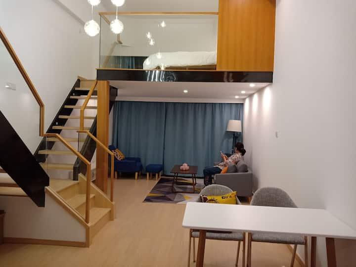 言青海景精装loft两房公寓 汽车南站 民间码头
