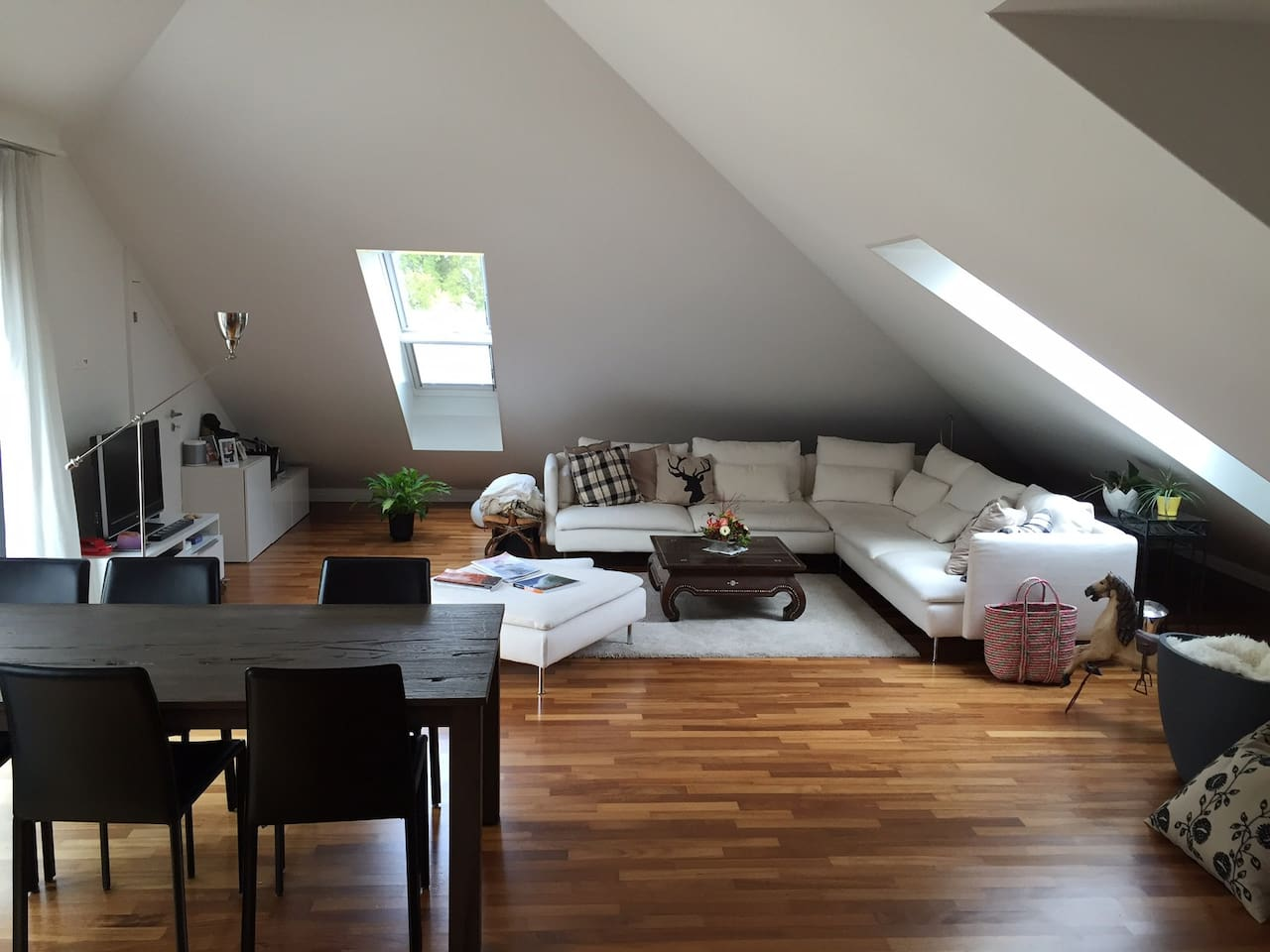 Large dining-living-room, dining for 6 people