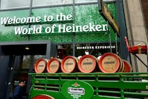 Heineken Experience? Just 5 minutes walk!