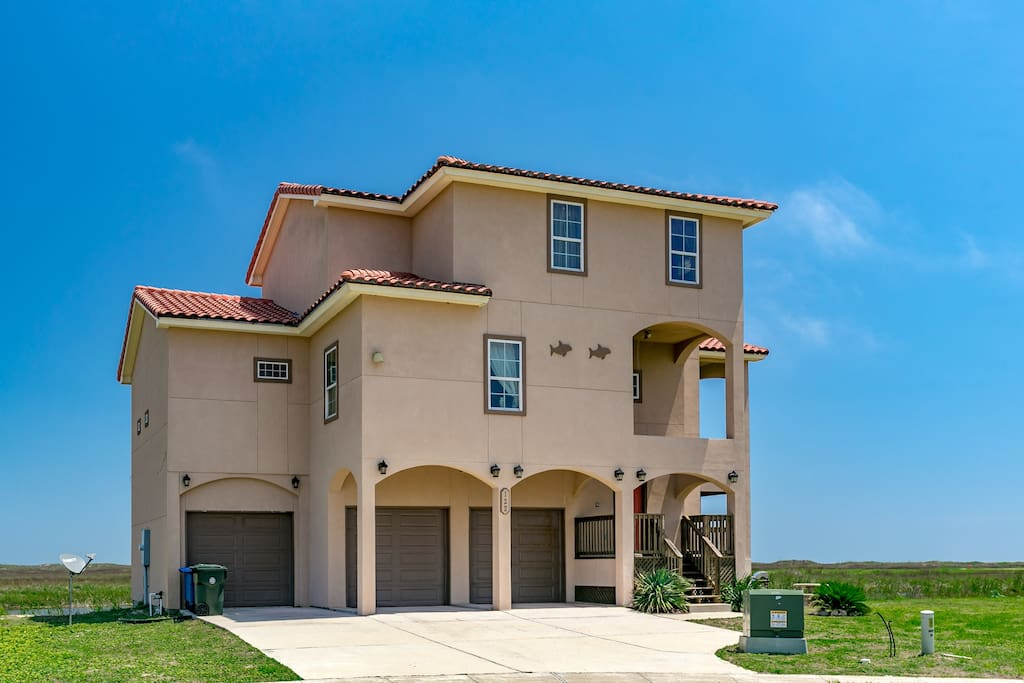 port a deck house with gulf view houses for rent in port aransas united states