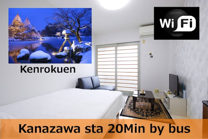 #105Kanazawa Dome-FreeParking & 5min to Downtown