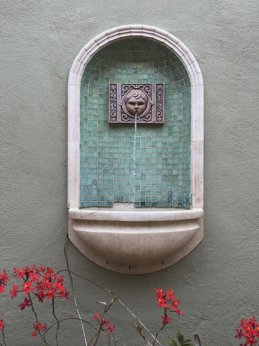 Fountain at patio