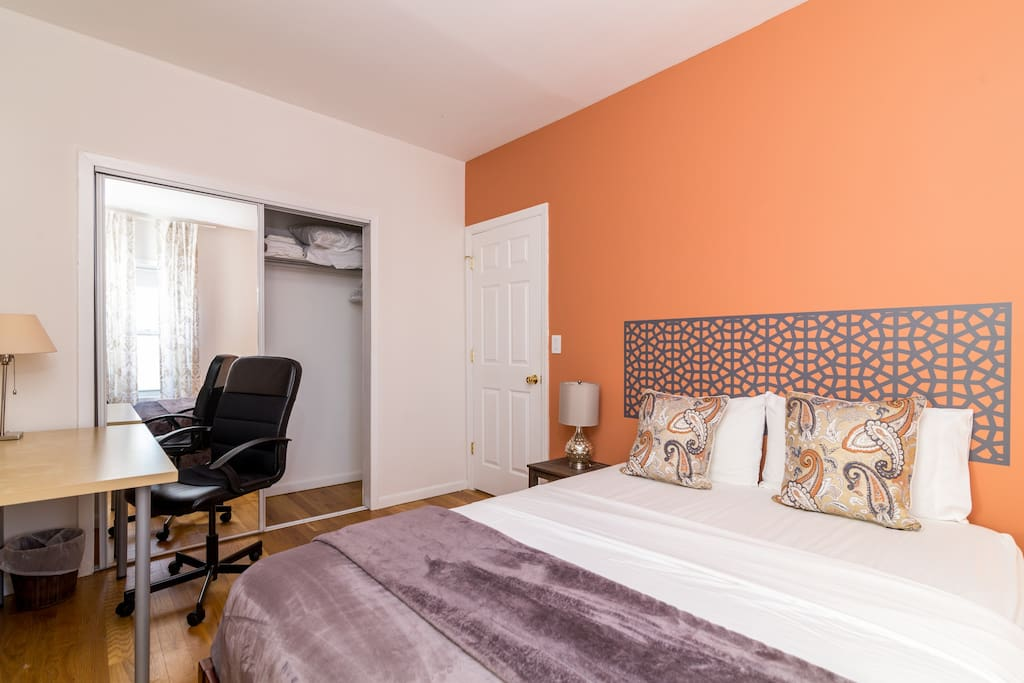 Ultra Plush mattress for a comfy night sleep - Sleeps 2. This bedroom is facing the street. Expect traffic noise.