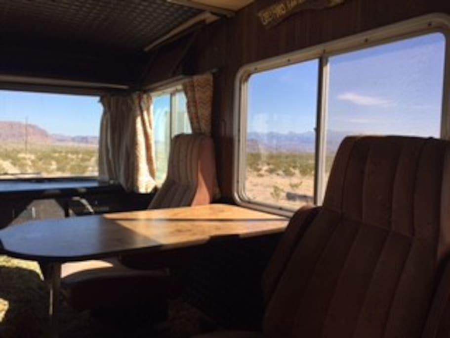 The kitchen window view