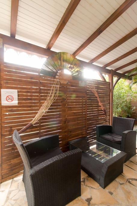 La terrasse privée pour vos cocktails dinatoires.
