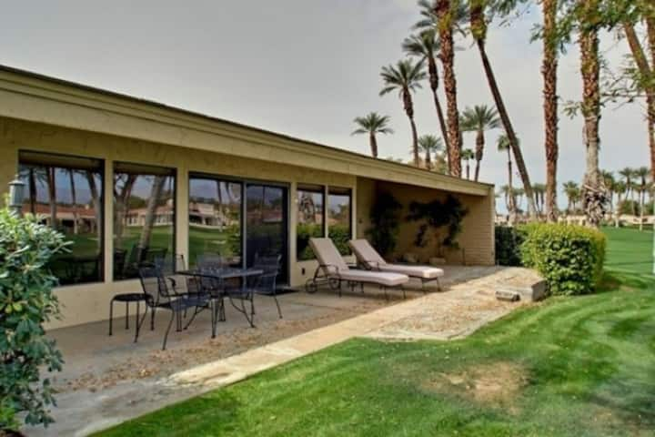 Dog-friendly, golf-adjacent home w/ shared pool & spa, private grill, & patios