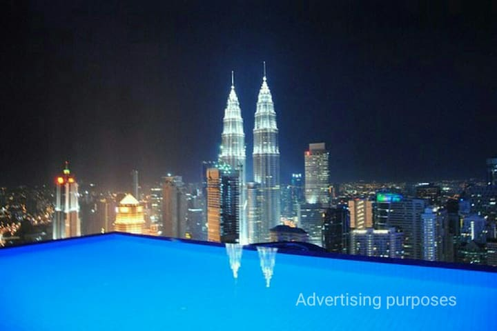 KLCC/KL tower view suites/5mins to KLCC/7-8pax - Kuala Lumpur - Apartment