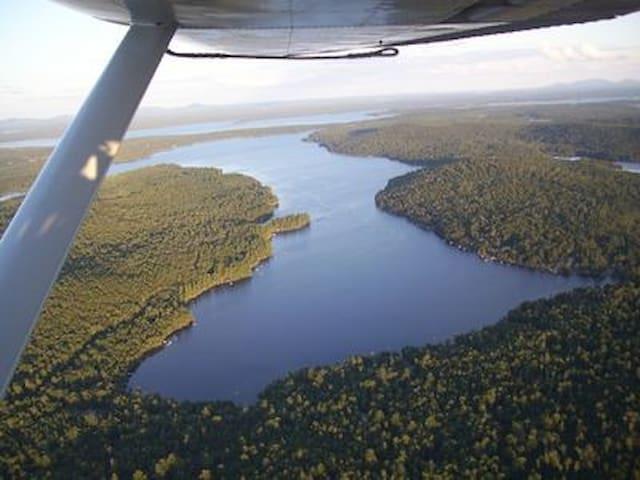Lake cabin for fishing, hunting and hiking Acadia