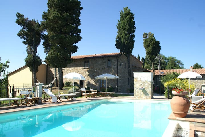 Attractive apartment in farmhouse with pool in beautiful surroundings