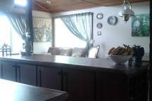 Kitchen island work space