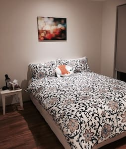 Kingsdown queen bed in modern family home - High Wycombe
