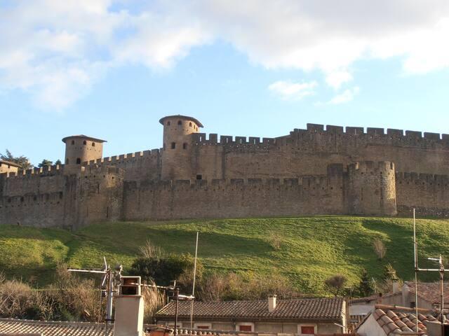 vue de la terrasse et de la chambre Florentine