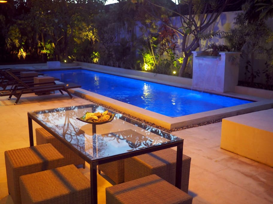 It's always sunny (hot) in Bali, having your own private pool is a must.