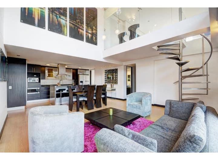 Amazing 2 story Poblado penthouse wow factor!