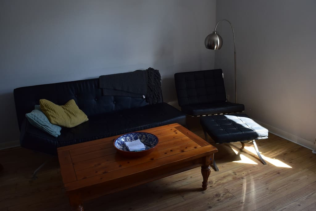 Large living room with sofa bed for additional guests (bedding available on request)
