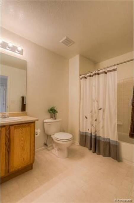 Clean Shared Bathroom