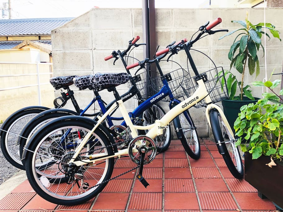 ★レンタル自転車3台★3 rental bicycles