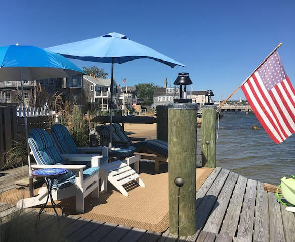 Exclusive sitting area at the top of the boat ramp is for this cabins use only