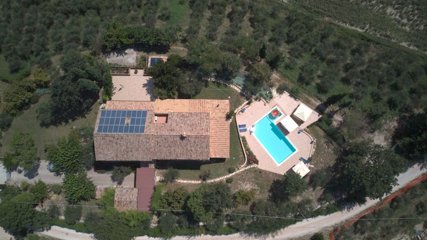 Apartment in countryside villa with pool and gym