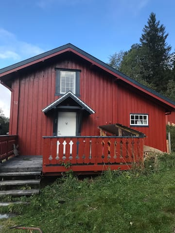 Cosy timberhouse on a farm.