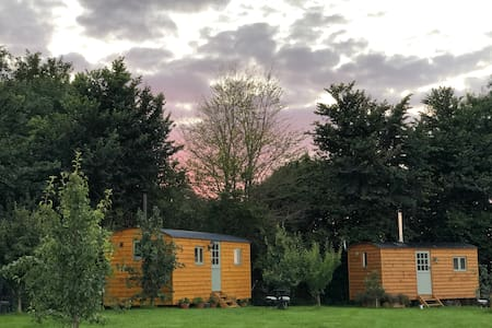 """""""Orchard Huts"""" sleeps 4 in two luxury cabins"""