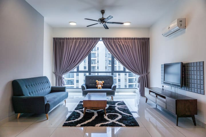 Jazz Suite 2BR for family near Straits Quay(家庭大公寓)