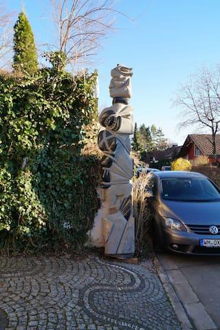 3meterSculptureTORTURE with swastica, hammer and sickle.