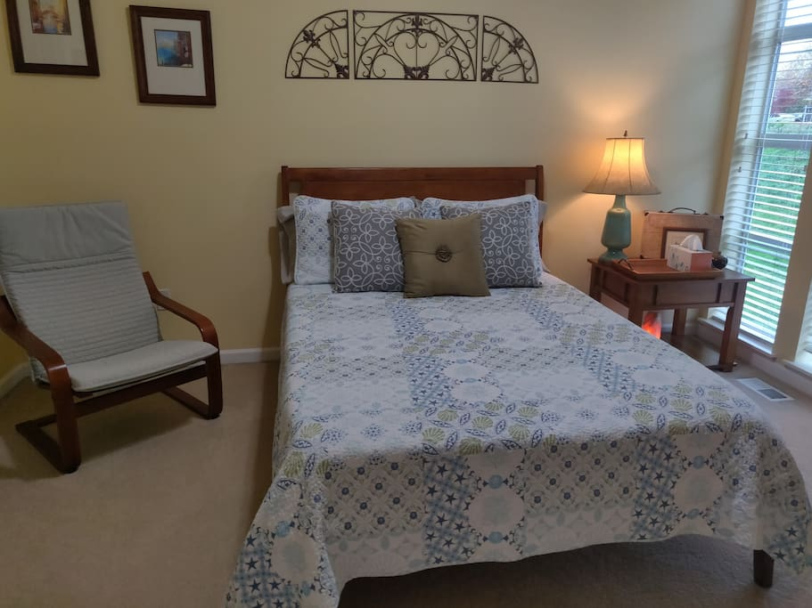 Very comfortable guest bed (double).