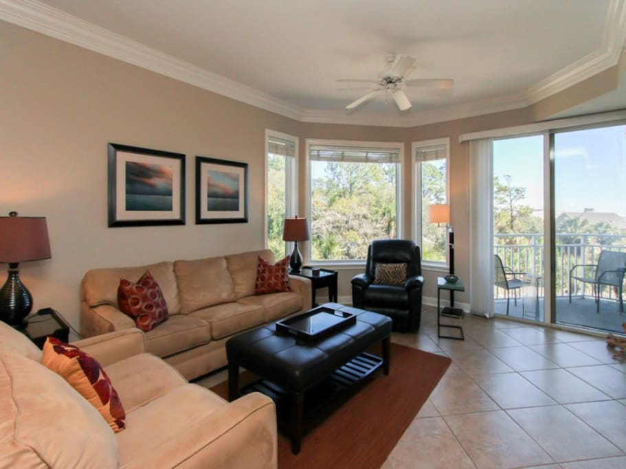 Living Area at 2305 Sea Crest provides access to the balcony with oceanviews